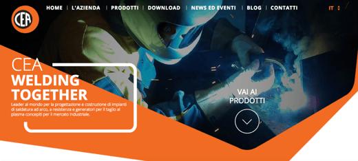 creazione sito web in ottica di inbound marketing inside per cea spa