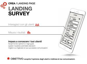 Soluzioni di Mobile marketing : landing survey
